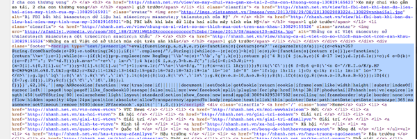 obfuscated malicious javascript function wrapped inside 'eval'